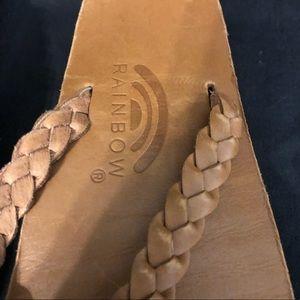 Rainbow Shoes - Rainbow 🌈 Leather Flip Flops